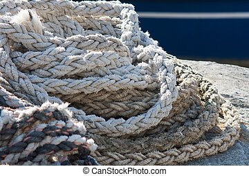 Strings for tying fishing boats