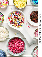 Candy sprinkles - Assortment of candy sprinkles for...