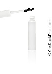 white mascara for eyes isolated