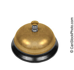 school bell isolated on white background