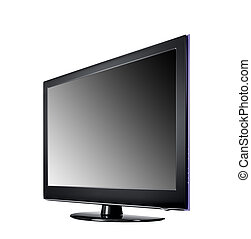 wide screen tv display isolated on white