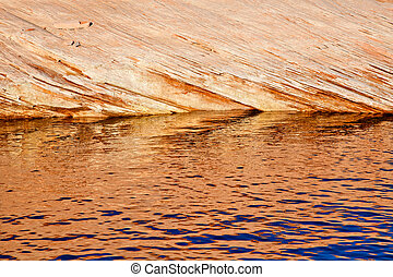 Antelope Slot Canyon Reflection Abstract Lake Powell Arizona