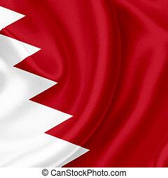 Bahrain waving flag