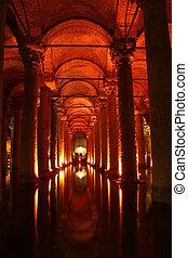 Basilica Cistern from Istanbul Turkey