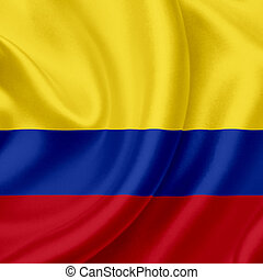 Colombia waving flag