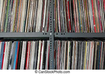 vinilo, registros, almacenamiento
