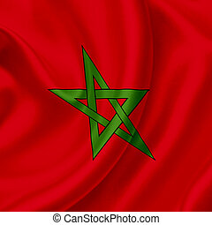 Morocco waving flag