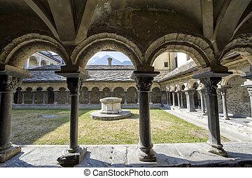 Aosta - Cloister of Sant'Orso - Aosta (Italy) - Cloister of...