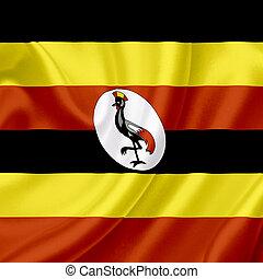 Uganda waving flag