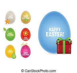colored and creative happy easter eggs