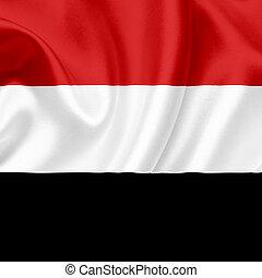 Yemen waving flag