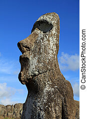 Ancient moai on Easter Island