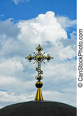 Church dome with a cross