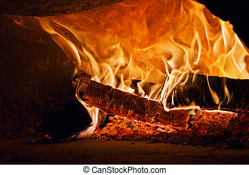 pizza wood owen - traditional Italian pizza wood oven, fire...