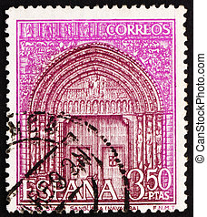 SPAIN - CIRCA 1968: a stamp printed in the Spain shows...