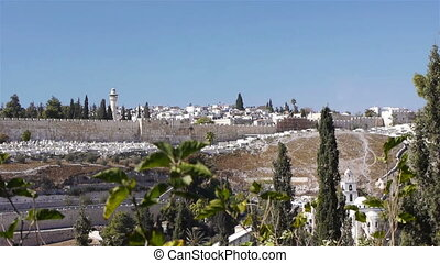 Panoramic view of Jerusalem old city