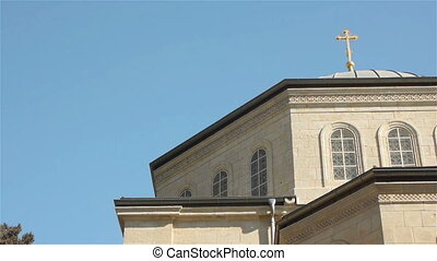 Russian Candle bell tower and Orthodox Church of Ascension...