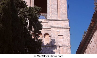 Russian Candle bell tower and Orthodox Church of Ascension in Jerusalem