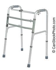 Walker, orthopeadic equipment over white