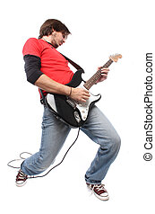Guitar player playing rock and roll