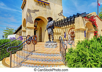 Spanish architecture of Mormons Historic Museum. - San Diego...