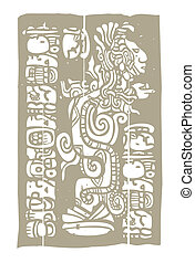 Mayan Vision Serpent and Glyphs - Vision serpent derived...