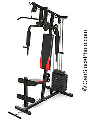 Gym machine isolated on white