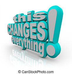 This Changes Everything Strategy Words to Improve and Evolve...