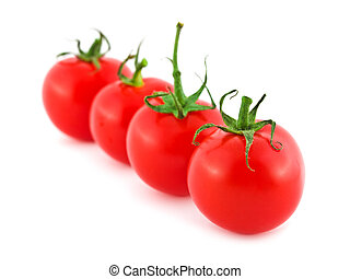 Tomato - Red ripe tomato isolated on white background