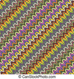 Pattern zig zag colorful