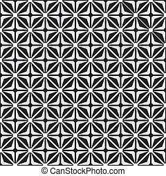 Optical illusion with geometric drawing