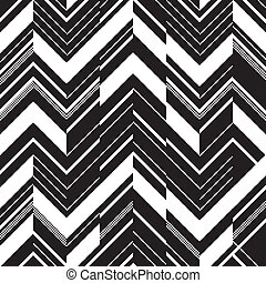 Pattern in zigzag - black and white