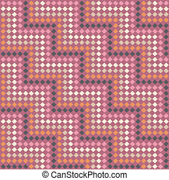Zigzag pattern in steps - color scarf