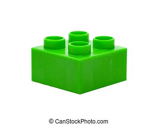 Toy Blocks - Large toy building blocks isolated against a...