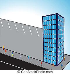 3d flats building