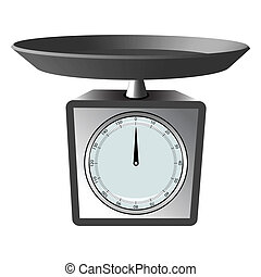 kitchen scale against white background, abstract vector art...