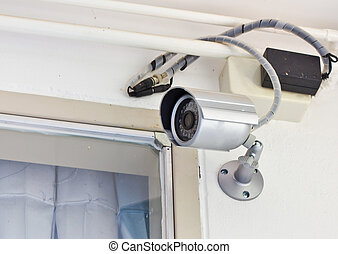 Security camera in the home , Thailand