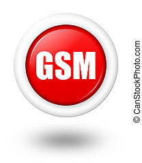 GSM telecommunication symbol with shadow