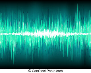 Sound waves oscillating on blue. EPS 8 - Sound waves...