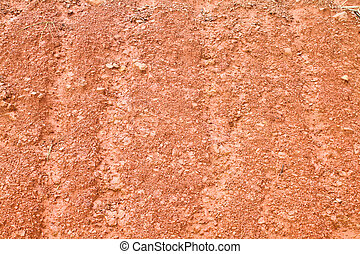 Red soil texture and dried plant