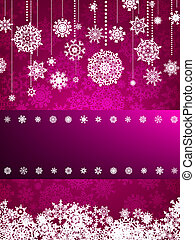 background with christmas snowflake. EPS 8