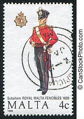 Subaltern of the Royal Malta Fencibles - MALTA - CIRCA 1989:...