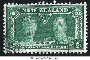 Queen Mary and King George V - NEW ZEALAND - CIRCA 1935:...