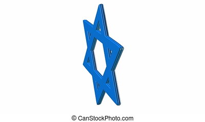animation of star of david in blue