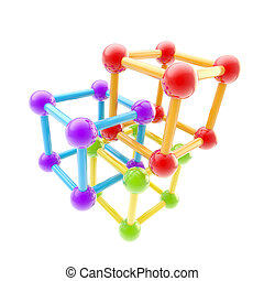 Chemistry and science symbol isolated