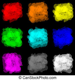 color paint splat set