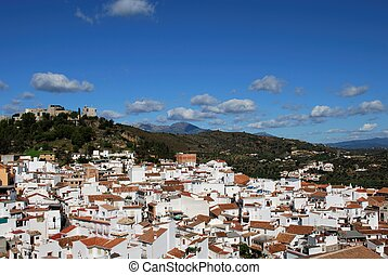 View of the town, Monda, Spain. - General view of town,...