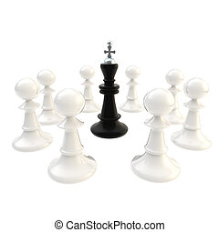 Deadlock black king surrounded with pawns