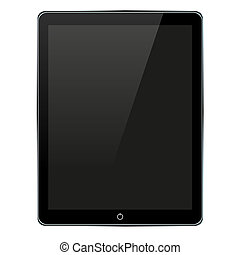 Vector computer tablet isolated on white