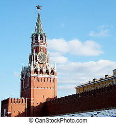 Moscow Kremlin Spasskaya Tower May 2011 - Spasskaya Tower of...